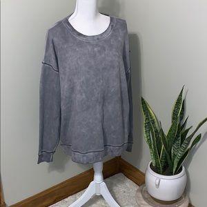 {aeo} acid wash sweatshirt